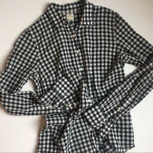 J.Crew Checkered Button Up Shirt